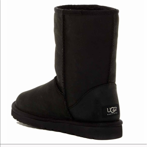a146064c9bca Authentic classic short black leather UGG boots